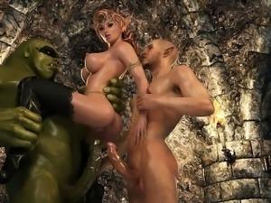 3D Ogre Fucks an Elven Princess!