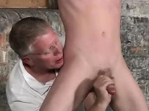 Twink video Sean McKenzie is tied up and at the mercy of sir