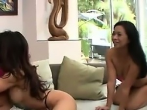 Old And Young Asian Lesbians In A Threesome