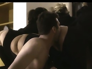 James Deen bangs bare ass masked babes in the ass