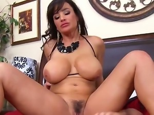 Big racked MILF porn star Lisa Ann gets humped