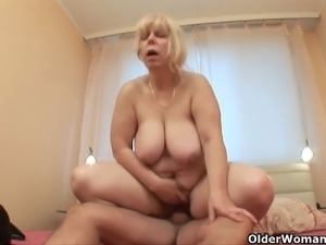 Mature sluts get banged hard by young studs
