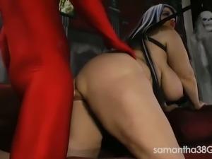 Busty BBW Samantha 38G gets banged very hard