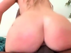 Blonde nympho taking a monster cock ride