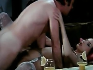 Dirty German retro gangbang with phone sex