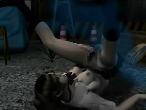 3D hentai slut gets fucked hard