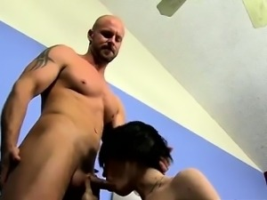 Gay guys The twink commences to fumble with his hard-on in h