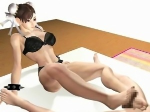 Hottie 3D hentai maid fucking dick