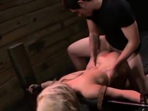 Fetish sub machine fucked