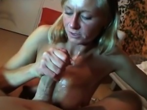 Mature wife playing with young cock