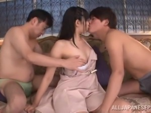 mako gets fucked by two dudes
