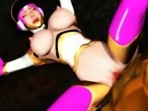 3D hentai bitch gives oral sex
