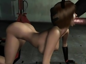 Sexy 3D hentai hoe gets facialized