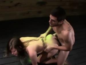 Fetish slave gets facial