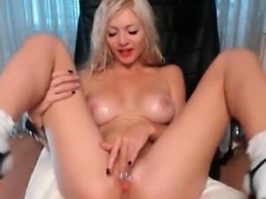 Busty Blonde Creamy Wet Orgasm