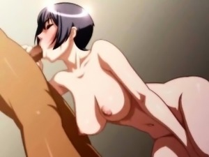 Brunette 3D anime bitch suck dick