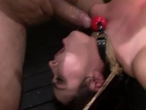 Fetish sub gets rammed