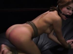 Bondage masters drills petite submissive