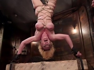 blonde naked bitch gets punished