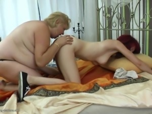 old and young lesbian fuck each other hard