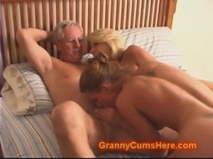 Granny and Grandpa fuck Daughter and Son free