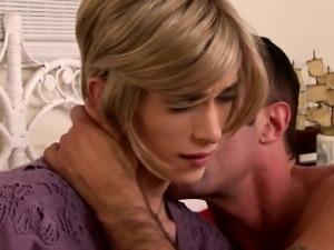 Classy tranny seduced by her horny lover