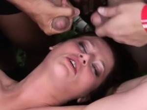 Hot czech babes gang banged in all holes