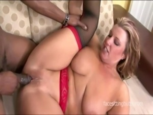 Chubby babe goes on the cougar hunt on a big black cock free