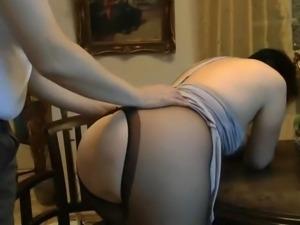 Mature fucking in pantyhose