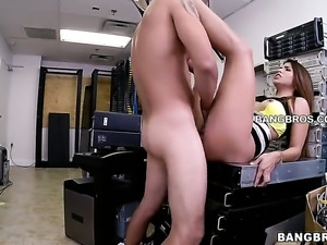Lovely Latina has sex in office