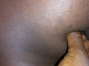 Finger in her juicy ebony butthole