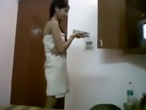 INDIAN - Cute Teen with Bf in Hostel - hotcamgirls.in