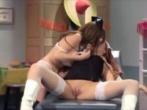 Lesbian Nurses Having Fun