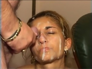 hungarian gipsy girl gets bukakke abuse