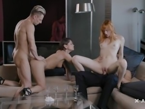 Couple fucks a young German Girl with Little Caprice X-Art.com