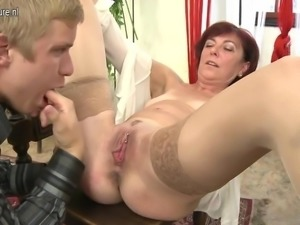 Mature mother suck and fuck her young pupil b