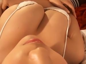 Busty Japanese Teen Teasing
