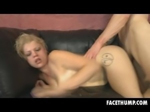 Blonde Nadia White Rough Doggystyle And Face Thumping
