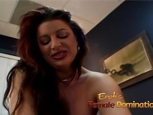 Voluptuous redhead bimbo fucks a her horny man really hard