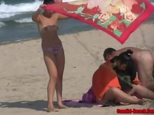 Blonde Milfs Nude At The Nudist Beach Voyeur Hd Video