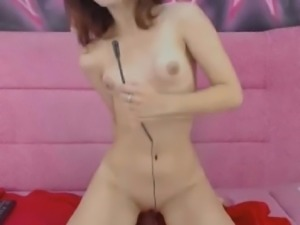 Petite Cam Babe Toys her Pussy Until Orgasm