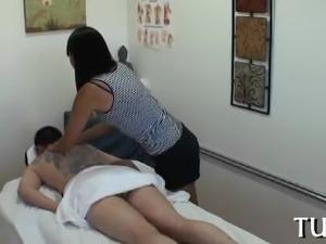Unforgettable sex in massage room