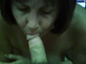 Piggy Milf amateur wife sucks cock