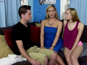 Mom teaches son and daughter about sex