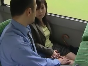 The bus was so hot - Japanese bus 11 - Lovers go wild