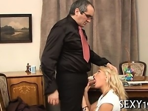 Vicious doggystyle pounding from lascivious mature teacher