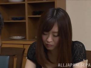 Japanese honey Nana Aoyama gets natural tits fucked hardcore