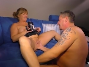 SexTapeGermany - German blonde MILF fucked in a hot sex tape