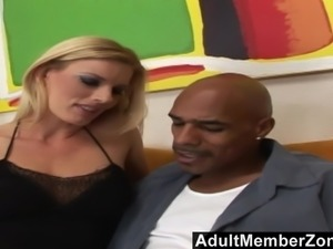 AdultMemberzone - Hot blonde goes crazy for a big black cock