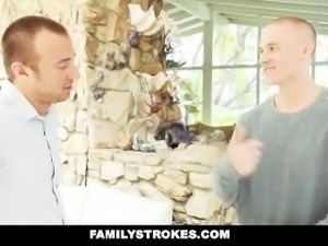 FamilyStrokes - Best friends trick step sis into brotherly gangbang